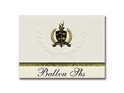 Signature Announcements Ballou Shs (Washington, DC) Graduation Announcements, Presidential style, Elite package of 25 with Gold & Black Metallic Foil seal