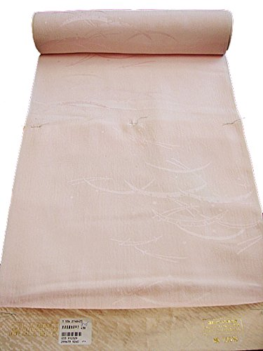 宝抽出薬を飲む博多着物市場 きものしらゆり 新品 ピンク色 楊柳地 長襦袢 正絹 反物