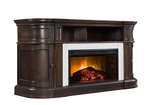 faux marble electric fireplace - 2