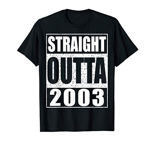Straight Outta 2003 T-Shirt 16th Birthday Gift Shirt -