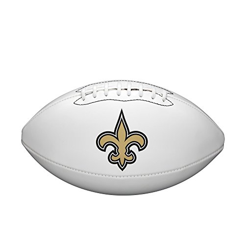 NFL Team Logo Autograph Football New Orleans Saints (Official Ncaa Autograph Football)