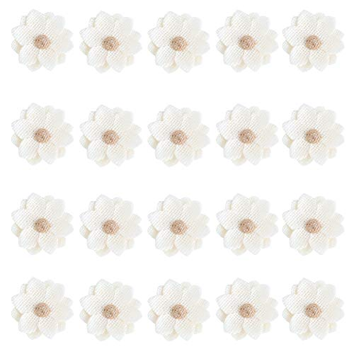 20pcs Natural Handmade Burlap Flowers Rustic Lace Rose for DIY Craft Wedding Decoration -