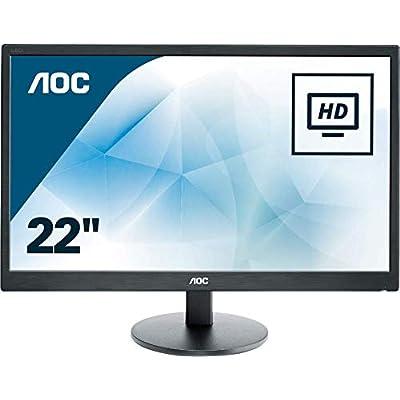 AOC E2270SWHN 21 5  LED FHD  1920x1080  5ms monitor   VGA  HDMI  Black