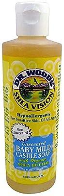 Dr. Woods Shea Vision Baby Mild Castile Soap, Unscented 8 oz