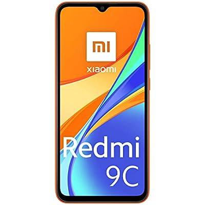 Xiaomi Redmi 9C Smartphone, 2 GB + 32 GB, 6.53″ HD+ Dot Drop Display 5000mAh (typ), 13 MP, con AI Face Unlock, Tripla Fotocamera, Arancione (Sunrise Orange)