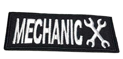 Mechanic Embroidered Patch Tactical Military Morale Biker Motorcycle Quote Saying Humor Series Iron or Sew-on Emblem Badge Appliques Application Fabric Patches