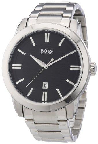 Hugo Boss 1512769 – Reloj analógico de cuarzo para hombre con correa de acero inoxidable, color plateado