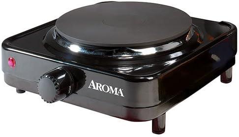 Aroma Durable Die-Cast Flat Single-Burner Portable Electric Range Hot Plate