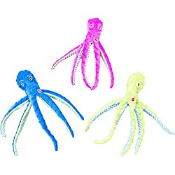 """SPOT Ethical Pets Skinneeez Extreme Stuffingless Durable Squeaker Octopus Dog and Cat Toy, 16"""", Assorted"""