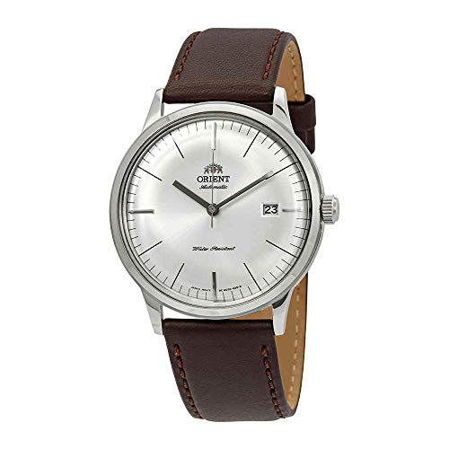 - Orient Men's 2nd Gen. Bambino Ver. 3 Stainless Steel Japanese-Automatic Watch with Leather Calfskin Strap, Brown, 21 (Model: FAC0000EW0