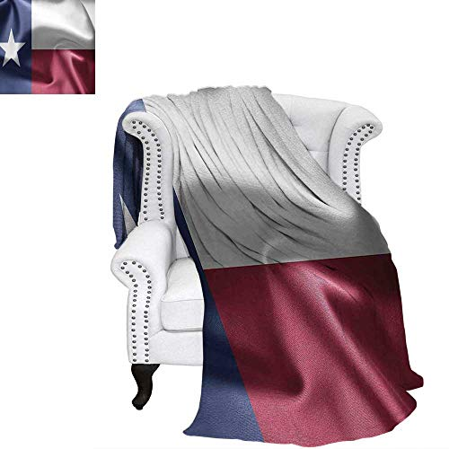 - WilliamsDecor Western Decor Travel Throw Blanket State of Texas Flag Star Freedom Symbol Silk Fabric Surging by Wind Blow Looking Velvet Plush Throw Blanket 50