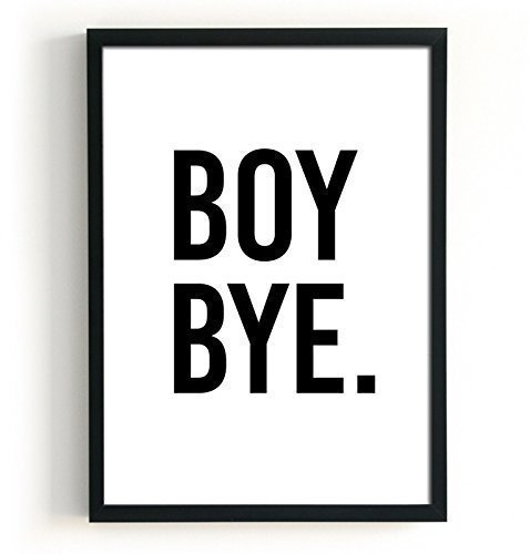 Leading Up To Christmas Quotes - Boy Bye Quote Poster, Black and White Modern Print, Size 5x7, 8x10, 11x14, A5, A4 and A4, Minimalist Wall Decor