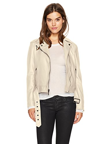 Kenneth Cole Women's Classic Moto Jacket, Stucco S