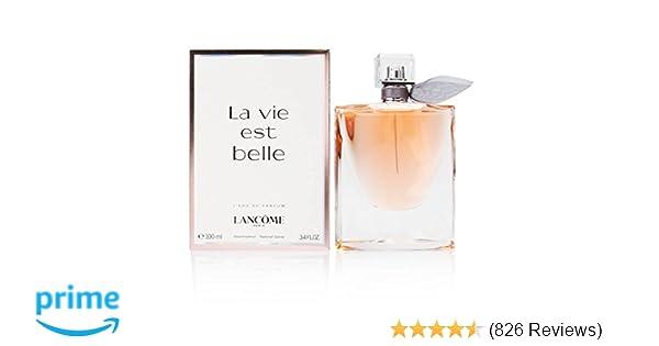268d63767 Amazon.com : Lancôme La Vie Est Belle L'Eau de Parfum Spray, 3.4 Ounce :  Beauty