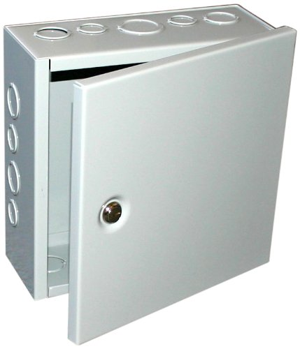 Nema 4 X Junction Boxes (BUD Industries JB-3944-KO Steel NEMA 1 Sheet Metal Junction Box with Knockout and Lift-off Screw Cover, 4