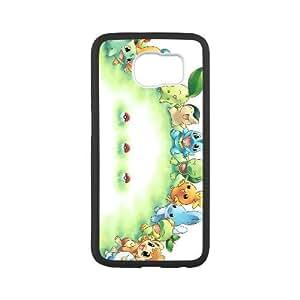 Pokemon funda Samsung Galaxy S6 caja funda del teléfono celular del teléfono celular negro cubierta de la caja funda EEECBCAAL14192