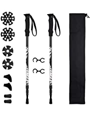 Mpow Walking Poles Retractable Hiking Trekking Poles with EVA Foam Handles and Wrist Straps, Perfect for for Hiking, Camping, Climbing, Backpacking and All Terrains with Tips Protector Replacement Set