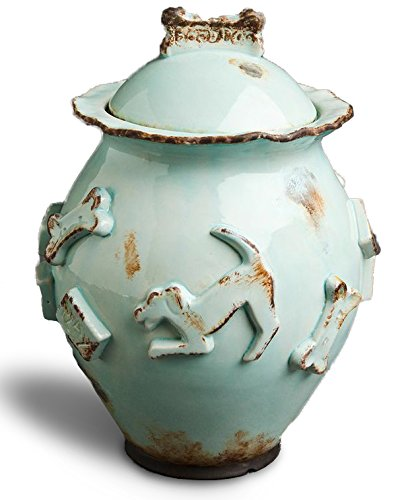 Carmel Ceramica PDJB3003 Dog Treat Jar, Baby Blue