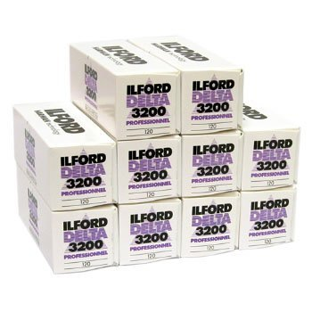 Ilford Delta 3200 120mm Film 10 Roll Pack