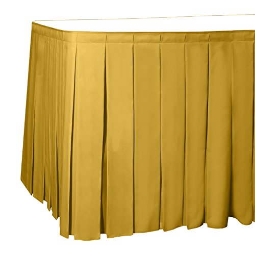 (Ultimate Textile 7 ft. Box Pleat Polyester Table Skirt - 42