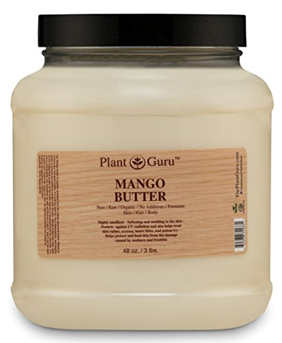 Cheap Mango Body Butter 3 lb. 100% Pure Raw Fresh Natural Cold Pressed. Skin Body and Hair Moisturizer, DIY Creams, Balms, Lotions, Soaps.