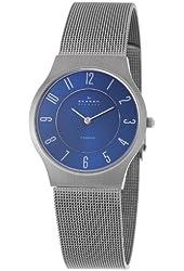 Skagen Men's 233LTTNC Titanium Blue Dial Mesh Bracelet Watch