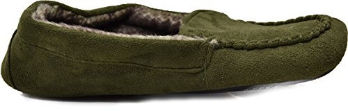 Pantofole Isotoner Woodlands Womens Mimetico Verde Militare (piccolo 5-6)