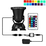 AomeTech Remote Control 36 LED RGB Underwater led Lights Submersible Lamp Multi Color Spotlight Decoration for Aquarium, Fish Tank, Swimming Pool, Garden, Pond, Fountain
