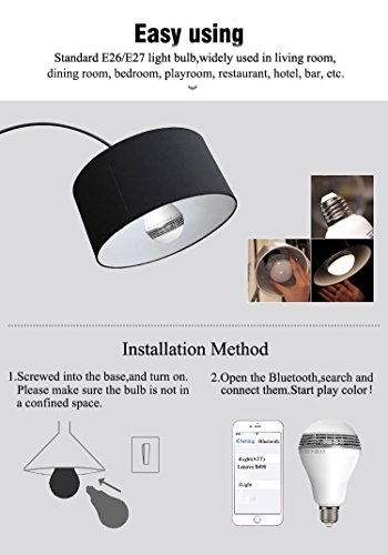 Deep Dream Wireless Bluetooth Smart LED Light Bulb Smartphone Controlled  Dimmable Multicolored Indoor Outdoor E26/ ...