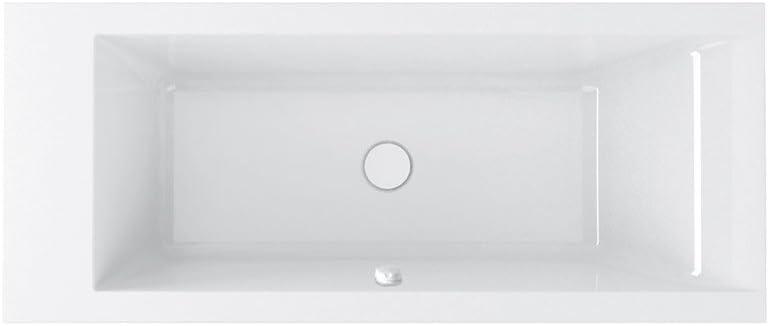 Bañera Hafro bañera empotrable, modelo 190 x 80 cm, izquierda o derecha, 2MDA4S1