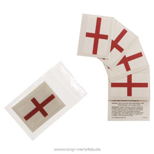 5 x Angleterre Fan Tatouages - drapeau de la Angleterre - tatouages temporaires WM 2018 (5)