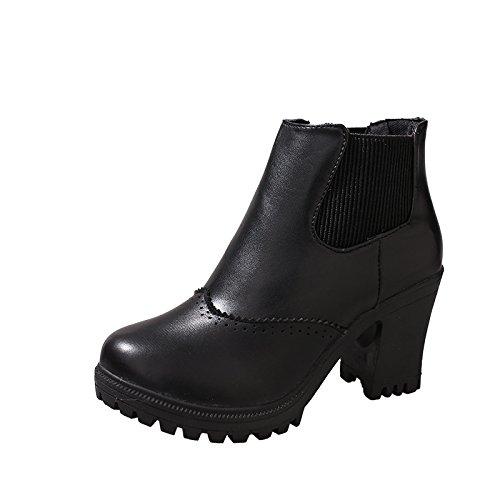 Autunno femminili black ad talloni alti Stivali 1wAxvH