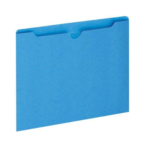 Globe-Weis/Pendaflex Colored File Jackets, Reinforced Tab, Flat, Letter Size, Blue, 100 Jackets Per Box (B3010DTBLU)