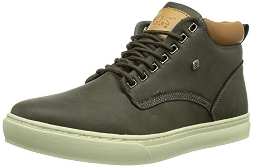 British Knights Men's Wood Trainers Grey - Grau (Dk. Grey-cognac04) N1GmxAC