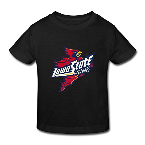 te Cyclones Little Boys Girls Casual T Shirt For Toddlers Size 3 Toddler (Mitchell Black Football Jersey)