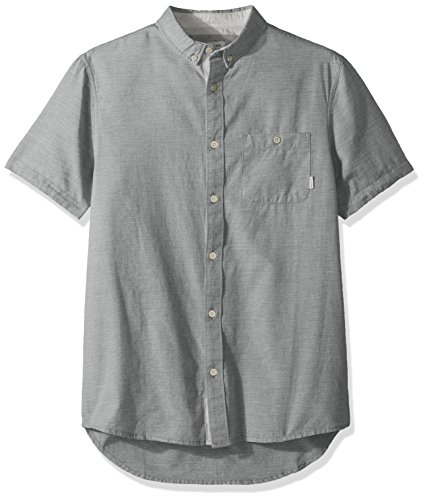 Shirt Button Up Quiksilver - Quiksilver Men's Waterfalls Short Sleeve Update, Mallard Green, M