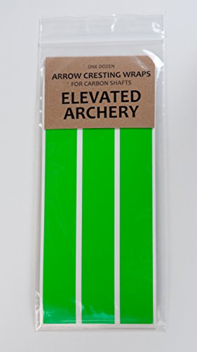 Elevated Archery Arrow Cresting Wraps for Carbon Shafts NEON Colors! - Pack of 12 (Neon Green)