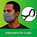 NATARIFITNESS..COM  41fBEoh-3IL._SS150_ 3M Daily Face Mask, Reusable, Washable, Adjustable Ear Loops, Lightweight Cotton Fabric, 3 Pack