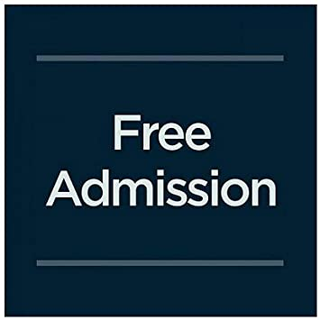 Free Admission 16x16 CGSignLab 5-Pack Basic Navy Window Cling