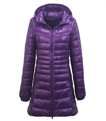 Size Leggero Warm Slim Giacche Plus Womens Packable Rkbaoye Hood Viola Down qHxEI1W4
