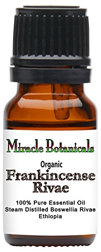 Miracle Botanicals Organic Frankincense Rivae Essential Oil - 100% Pure Boswellia Rivae - Therapeutic Grade - 10ml by Miracle Botanicals