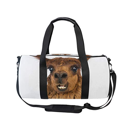 Travel Duffels Llama Close-Up Duffle Bag Luggage Sports Gym for Women /& Men