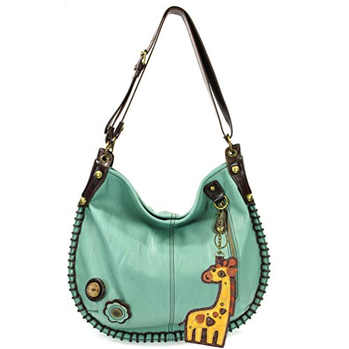 Charming X-large Hobo/Xbody Convertible Handbags with Giraffe Keyfob ()