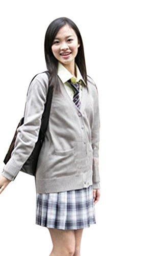 Girls Grey School Cardigan - 7