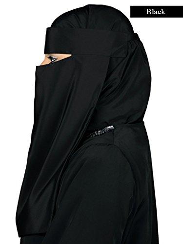 Mybatua Women's Soft Crepe Niqab Set Muslim Hijab Burqa Burka Naqaab