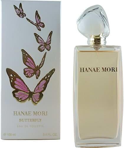 Hanae Mori Butterfly Eau de Toilette, 3.4 Ounce
