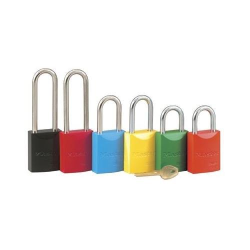 Master Lock 6835LFYLW 5 PIN YELLOW SAFETY LOCKOUT PADLOCK KEYED DIFF.