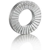 Juego de surtido M3-M12 Spring Seal Silver 720Pcs Arandela el/ástica arandela plana de acero inoxidable 304 con caja de almacenamiento para unir la resistencia a la oxidaci/ón