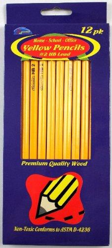Yellow Pencils #2 HB Lead 72 pcs sku# 1457746MA by DDI