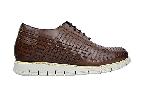 Zerimar Schuhe Für Männer Erhöhen Sie 7 cm | Herrenschuhe mit Erhöhungen | Schuhe Die Ihre Höhe Erhöhen Farbe Schwarz Größe 53 Braun